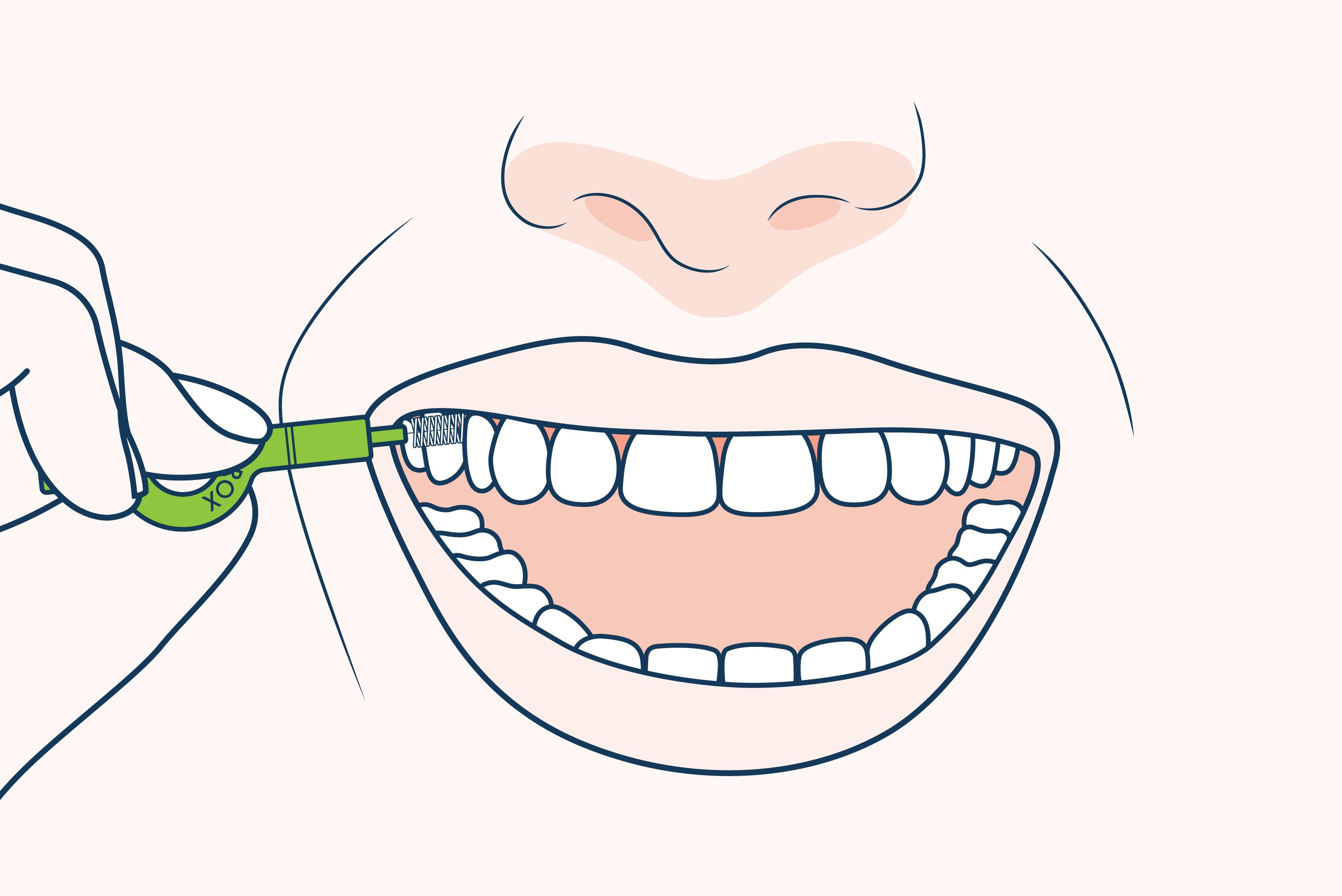 How to use CURAPROX interdental brush